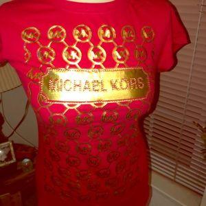 💎 RED BLING MICHAEL KORS T-SHIRT 💎 NWOT 💎